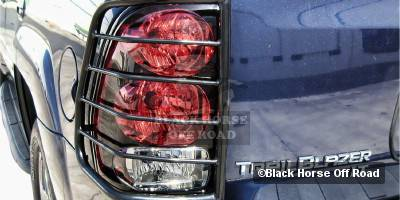 Headlights & Tail Lights - Tail Light Covers - Black Horse - Chevrolet Trail Blazer Black Horse Taillight Guards