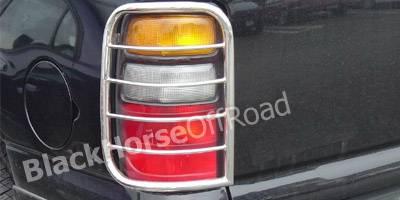 Headlights & Tail Lights - Tail Light Covers - Black Horse - GMC Yukon Black Horse Taillight Guards