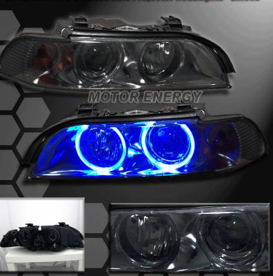Headlights & Tail Lights - Headlights - Custom - 5 Series E39 SMOKED Headlights DuaL Halo