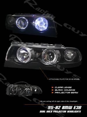 Headlights & Tail Lights - Headlights - Custom - BMW E38 7 SERIES DUAL HALO