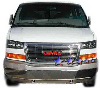 Grilles - Custom Fit Grilles - APS - GMC Savana APS Billet Grille - Upper - Stainless Steel - G65476S