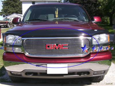 Grilles - Custom Fit Grilles - APS - GMC Sierra APS Billet Grille - with Logo Opening - Upper - Aluminum - G65703A