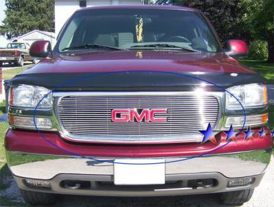 Grilles - Custom Fit Grilles - APS - GMC Yukon APS Billet Grille - with Logo Opening - Upper - Stainless Steel - G65703S
