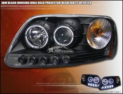 Headlights & Tail Lights - Custom Wing - Custom - Black Halo Pro Headlights