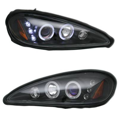 Headlights & Tail Lights - Headlight Covers - Custom - Black Halo LED Pro Headlights