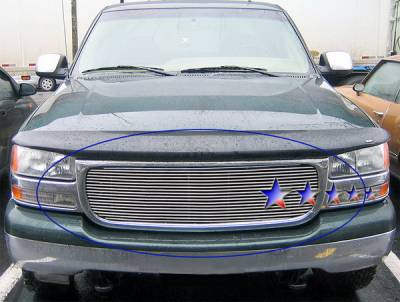 Grilles - Custom Fit Grilles - APS - GMC Yukon APS Billet Grille - without Logo Opening - Upper - Stainless Steel - G65704S