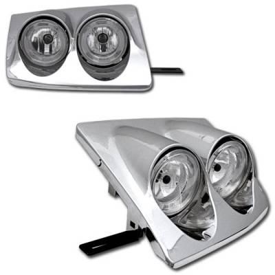 Headlights & Tail Lights - Headlights - Custom - Chrome Dual Halo Headlights
