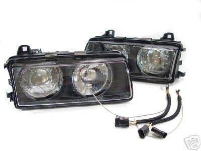 Headlights & Tail Lights - Headlights - Custom - BMW E36 EURO ELLIPSOID PROJECTOR HEADLIGHTS