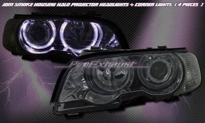 Headlights & Tail Lights - Headlights - Custom - Smoked Halo Headlights