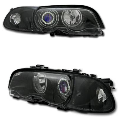 Headlights & Tail Lights - Headlights - Custom - Black Halo Projector Headlights