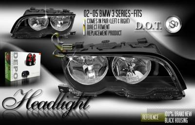 Headlights & Tail Lights - Headlights - Custom - Depo Black Headlights