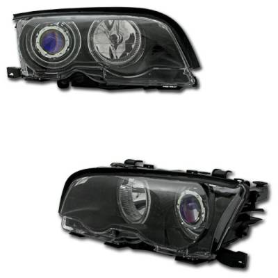 Headlights & Tail Lights - Headlights - Custom - 02-05 Black Halo Headlights