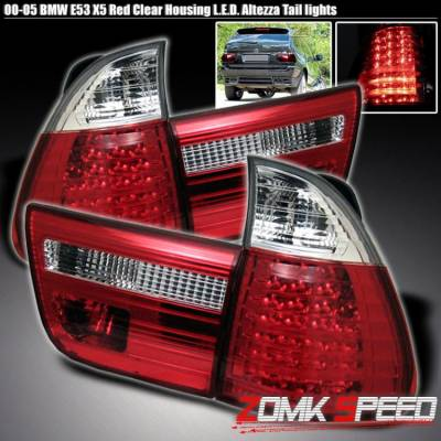 Headlights & Tail Lights - Led Tail Lights - X3 - LED RED CLEAR TAIL