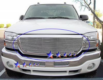 Grilles - Custom Fit Grilles - APS - GMC Sierra APS Billet Grille - without Logo Opening - Upper - Aluminum - G65772A