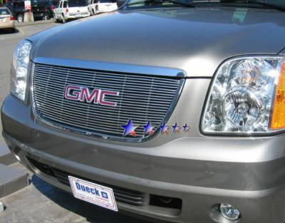 Grilles - Custom Fit Grilles - APS - GMC Yukon APS Billet Grille - with Logo Opening - Upper - Aluminum - G65778A