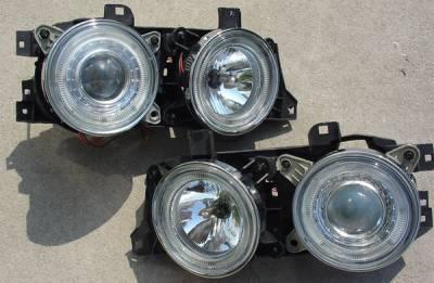 Headlights & Tail Lights - Headlights - Custom - Angel Eye projector Headlights