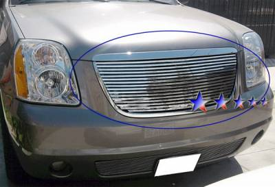 Grilles - Custom Fit Grilles - APS - GMC Yukon APS Phat Grille - without Logo Opening - Upper - Stainless Steel - G65779T
