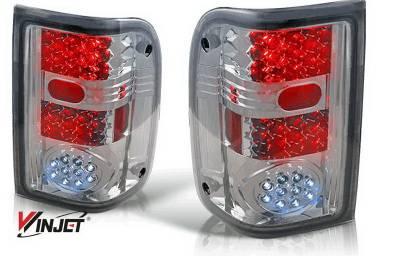 Headlights & Tail Lights - LED Tail Lights - WinJet - Ford Ranger WinJet LED Taillights - WJ20-0021-04