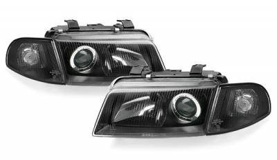 Headlights & Tail Lights - Headlights - Custom - Euro Black Pro Headlights
