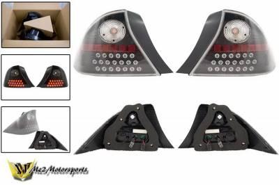 Headlights & Tail Lights - Led Tail Lights - WinJet - Honda Civic WinJet LED Taillights - WJ20-0032-04