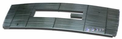 Grilles - Custom Fit Grilles - APS - GMC Sierra APS Billet Grille - with Logo Opening - Upper - Stainless Steel - G66474S