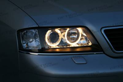 Headlights & Tail Lights - Headlights - Custom - A6 Black Halo Pro Headlights
