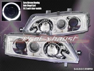 Headlights & Tail Lights - Headlights - Custom - Chrome Euro Angel Eyes Halo Pro Headlights