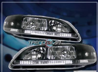 Headlights & Tail Lights - Headlights - Custom - JDM  Black Clear Headlights