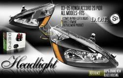 Headlights & Tail Lights - Headlights - Custom - Black Euro Crystal Headlights