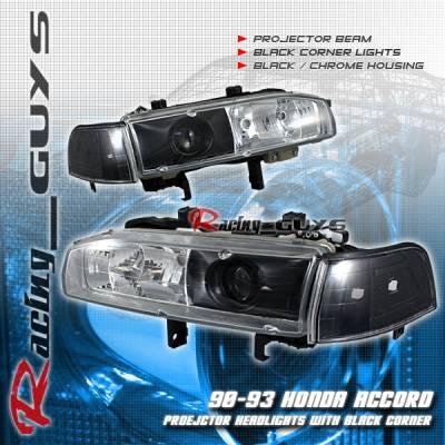Headlights & Tail Lights - Headlights - Custom - Black/Chrome Housing   Headlights