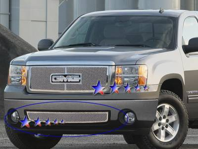 Grilles - Custom Fit Grilles - APS - GMC Sierra APS Wire Mesh Grille - Bumper - Stainless Steel - G76495T