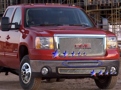 Grilles - Custom Fit Grilles - APS - GMC Sierra APS Wire Mesh Grille - Upper - Stainless Steel - G76570T