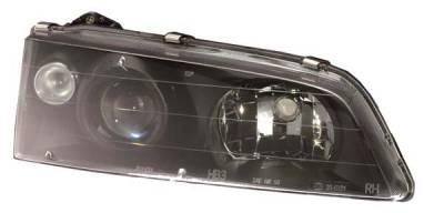 Headlights & Tail Lights - Headlights - Custom - HID-Xenon Black Projector Headlights