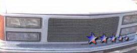Grilles - Custom Fit Grilles - APS - GMC Sierra APS Billet Grille - Upper - Aluminum - G85010A