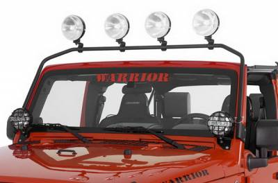 Suv Truck Accessories - Light Bars - Warrior - Jeep Wrangler Warrior Safari Light Bar - Front - 844