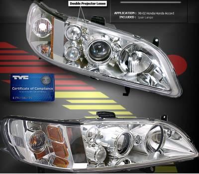 Headlights & Tail Lights - Headlights - Custom - Clear Housing Dual Halo Pro Headlights