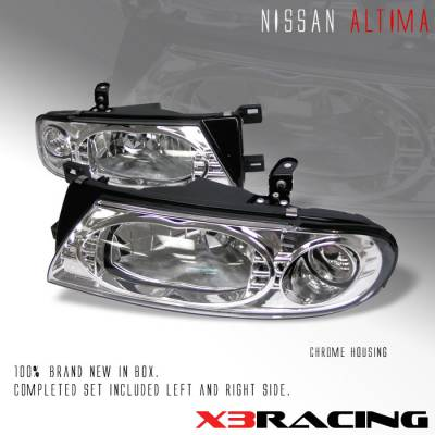Headlights & Tail Lights - Headlights - Custom - JDM Chrome Crystal Headlights