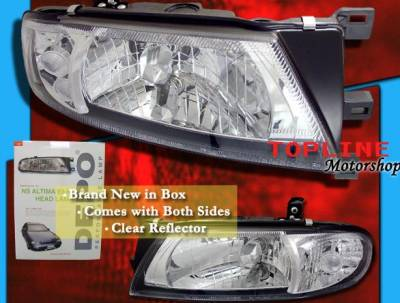 Headlights & Tail Lights - Headlights - Custom - Chrome Euro Headlights