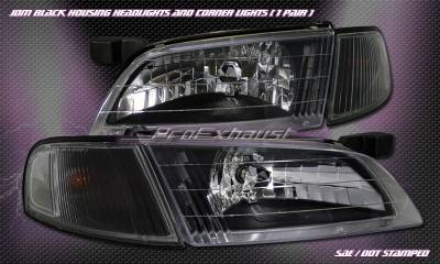 Headlights & Tail Lights - Headlights - Custom - Euro Black Clear Headlights