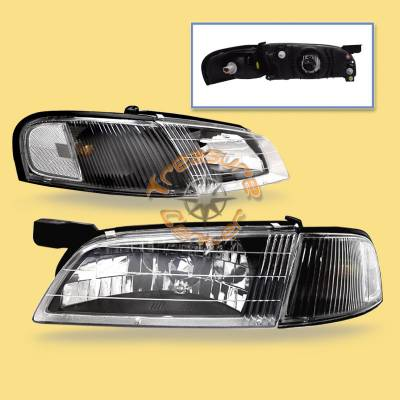Headlights & Tail Lights - Headlights - Custom - Diamond Clear JDM  Headlights