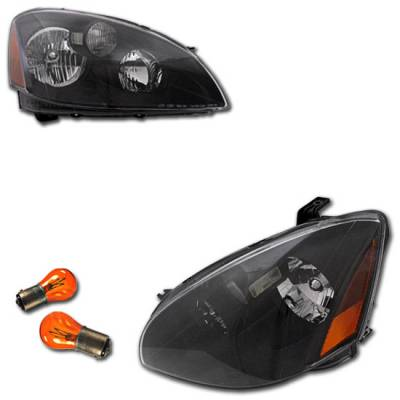 Headlights & Tail Lights - Headlights - Custom - JDM Black Euro Clear Headlights