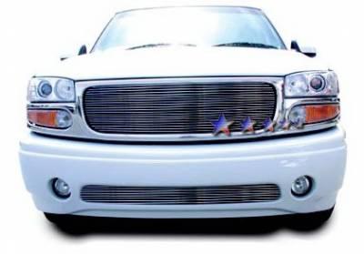 Grilles - Custom Fit Grilles - APS - GMC Sierra APS Billet Grille - Bumper - Aluminum - G85370A