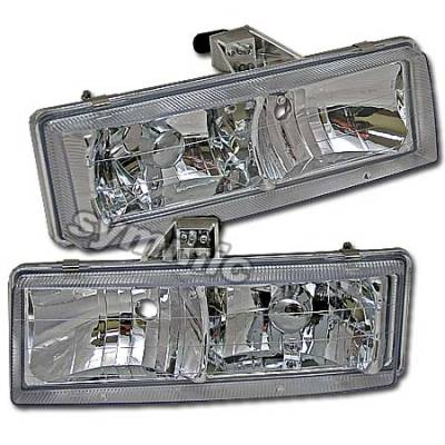 Headlights & Tail Lights - Headlights - Custom - Crystal Euro Headlights