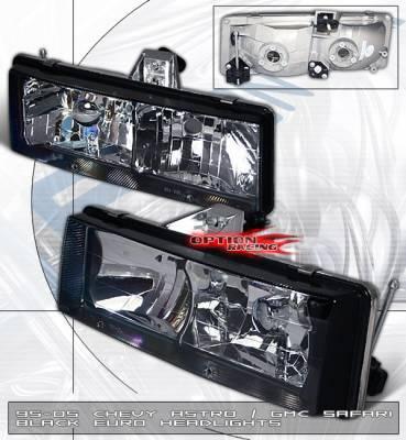 Headlights & Tail Lights - Headlights - Custom - Euro Clear Diamond Cut Headlights
