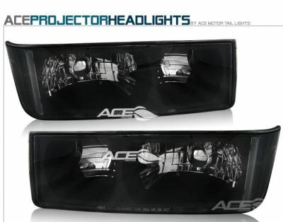 Headlights & Tail Lights - Headlights - Custom - Black Headlights