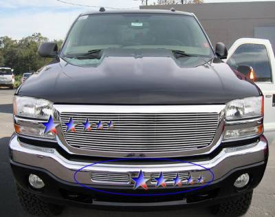 Grilles - Custom Fit Grilles - APS - GMC Sierra APS Billet Grille - Center Airdam - 1PC - Upper - Aluminum - G85472A