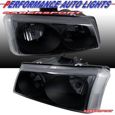 Headlights & Tail Lights - Headlights - Custom - Euro Black Headlights