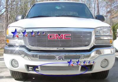 Grilles - Custom Fit Grilles - APS - GMC Sierra APS Billet Grille - Bumper - Aluminum - G85473A