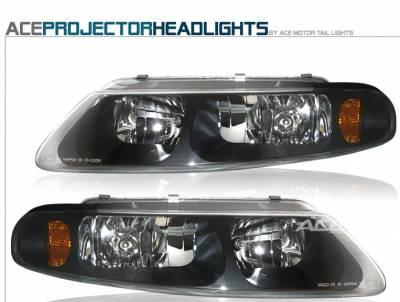 Headlights & Tail Lights - Headlights - Custom - Black Crystal Headlights