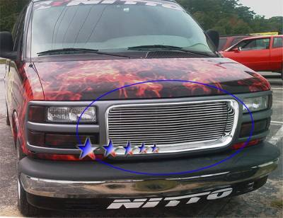 Grilles - Custom Fit Grilles - APS - GMC Savana APS Billet Grille - Upper - Aluminum - G85485A